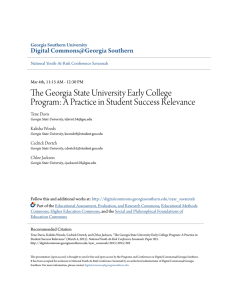 The Georgia State University Early College Program
