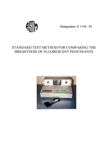 standard test method for comparing the brightness of fluorescent