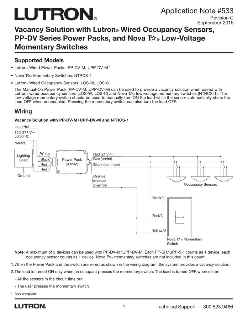 018181553_1 617e0a6f640a5a7e43ae12845305b5e3 vacancy solution with lutron wired occupancy sensors, pp occupancy sensor power pack wiring diagram at gsmx.co