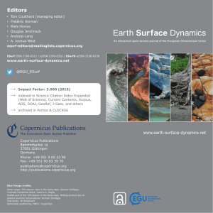 Journal flyer - Earth Surface Dynamics