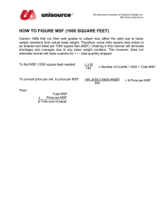 how to figure msf (1000 square feet)
