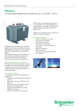 Transformer solutions from schneider electric - Schneider electric india offices ...