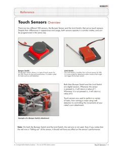 Touch Sensors Overview
