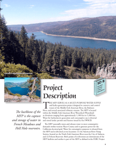 Project Description - PCWA Middle Fork American River Project
