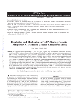 Regulation and mechanisms of ATP-binding cassette transporter A1