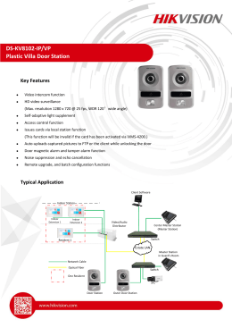 DS-KV8102-IP/VP Plastic Villa Door Station
