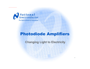 Photodiode Amplifiers