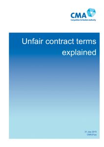 Unfair contract terms explained