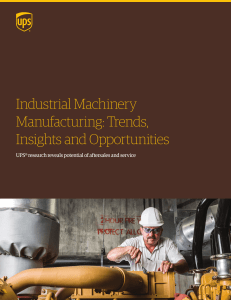 Industrial Machinery Manufacturing: Trends
