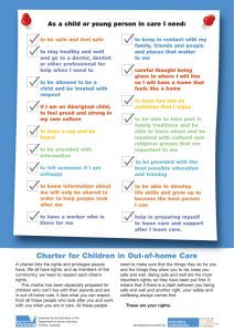 Charter for children in Out of Home Care
