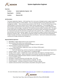 System Application Engineer