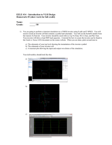 EELE 414 – Introduction to VLSI Design Homework #5 (show work