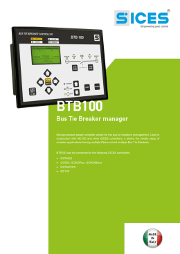 Microprocessor-based controller aimed for the bus tie breakers