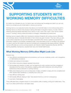 supporting students with working memory