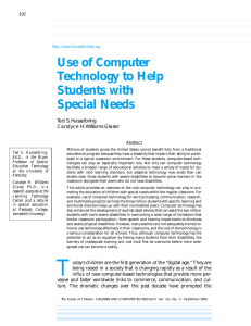 Use of Computer Technology to Help Students with Special Needs