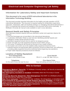 Electrical and Computer Engineering Lab Safety