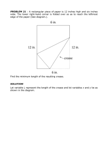 PROBLEM 21 : A rectangular piece of paper is 12