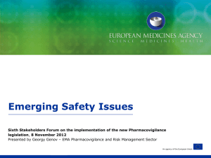 Emerging Safety Issues - European Medicines Agency