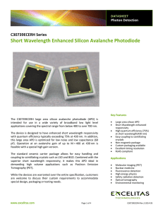 Short Wavelength Enhanced Silicon Avalanche Photodiode