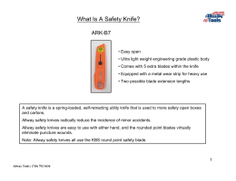 Allway`s ARK-B7 Safety Knife Usage Guide