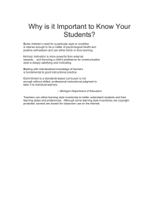 Why is it Important to Know Your Students?