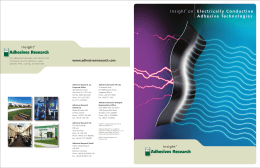 Electrically Conductive Brochure