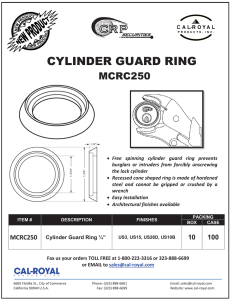 cylinder guard ring - Cal