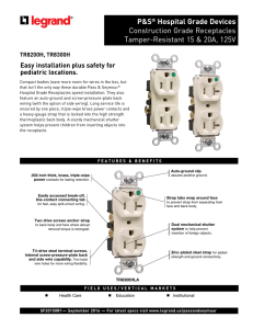 Hospital Grade TR Construction Grade Receptacles