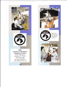 Houston`s Therapeutic Equestrian Genters 24161 Spring Dr. fax2B1