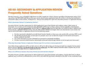 Secondary Review - Drive California