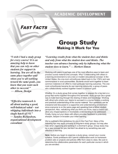 Group Study: Making It Work For You