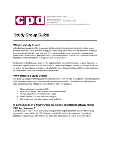 Study Group Guide - The Law Society of Upper Canada