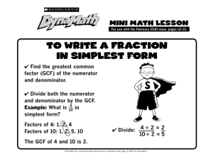 to write a fraction in simplest form