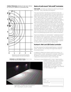 """full-cutoff"" luminaires Kurtzon`s Wet Lock 836 Series Luminaire"