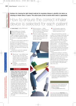How to ensure the correct inhaler device is selected for each patient