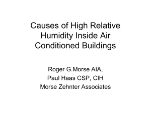 Causes of High Relative Humidity Inside Air Conditioned Buildings