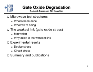 Gate Oxide Degradation - The Institute for Research in Electronics