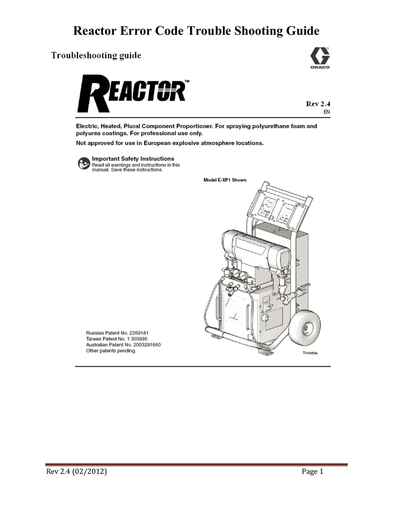 reactor error code trouble shooting guide rh studylib net