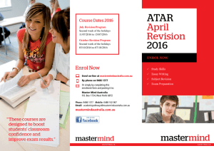 April Revision 2016 - Master Mind Australia