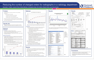 Reducing the number of changed orders for radiographs in