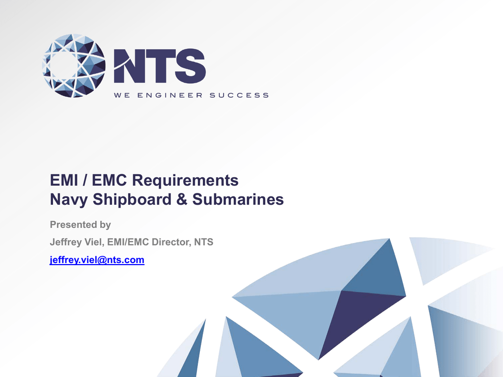 EMI / EMC Requirements for Navy Shipboard and Submarine