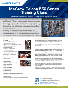 McGraw Edison 550 Series Training Class