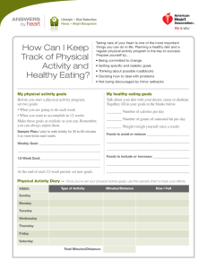 How Can I Keep Track of Physical Activity and Healthy Eating?