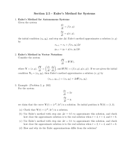 Section 2.5 - Euler`s Method for Systems