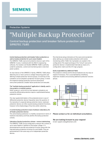 Multiple Backup Protection