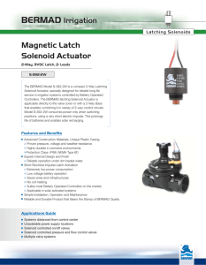 Magnetic Latch Solenoid Actuator