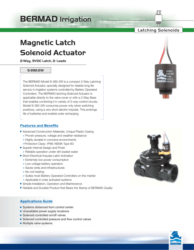 Magnetic Latch Solenoid Actuator Sprinkler Systems Wiring Diagram On For Valve