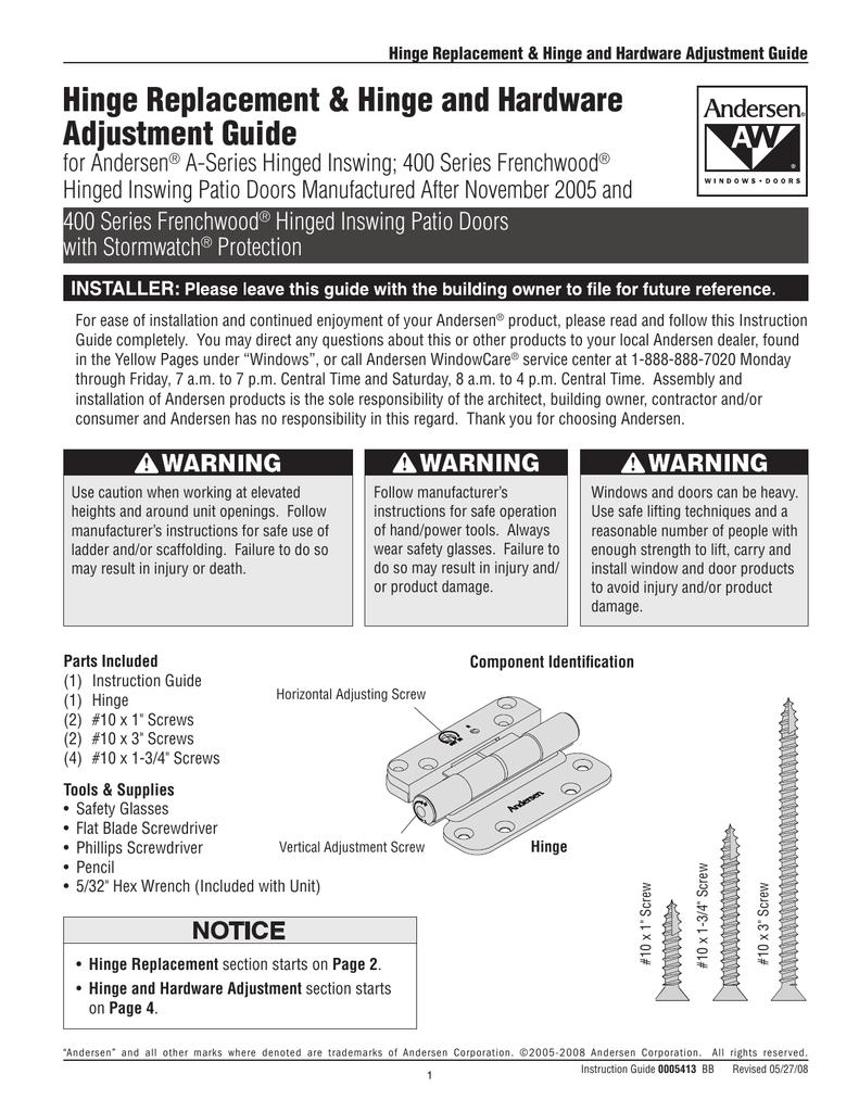 Service Guide 0005413