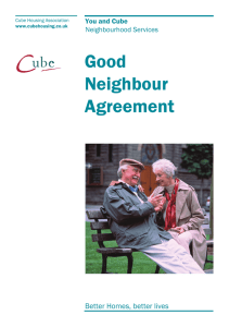 Good Neighbour Agreement - Cube Housing Association