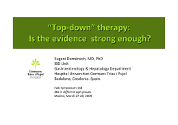 """Top-down"" therapy: Is the evidence strong enough? ""Top"